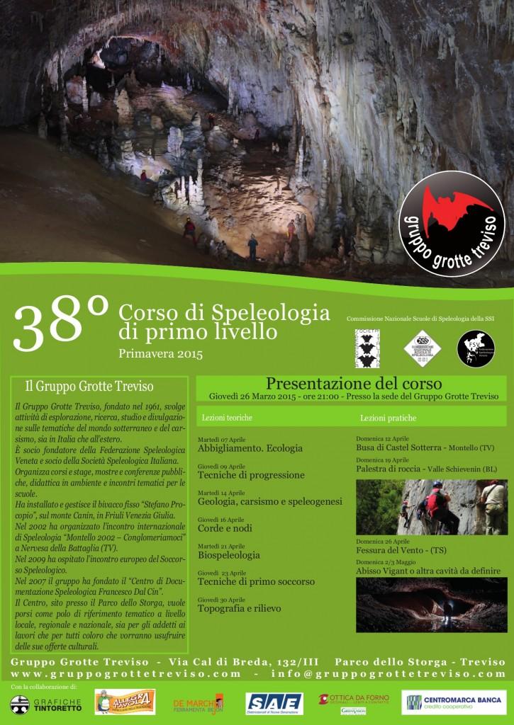 Corso speleo 2015 - Locandina